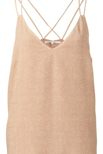 cami cross back top front