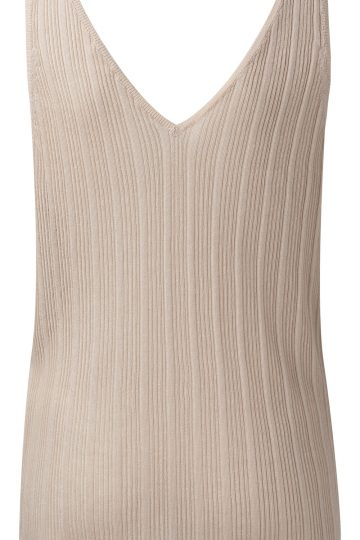 v neck ribbed vest front